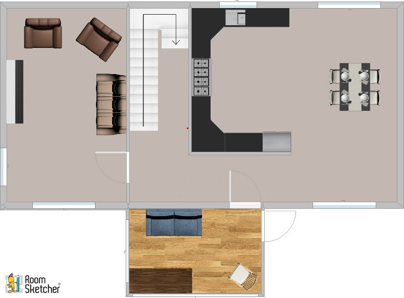 Floor plan of Gables Cottage ground floor