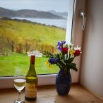 The view from one of our bedrooms at Gables Cottage overlooking the Torridon Mountains and the Summer Isles